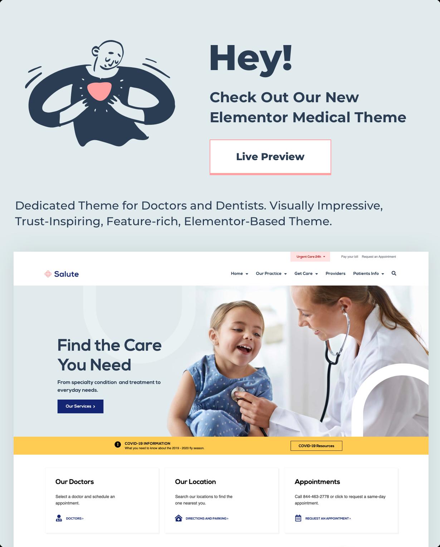 Elementor Medical Theme